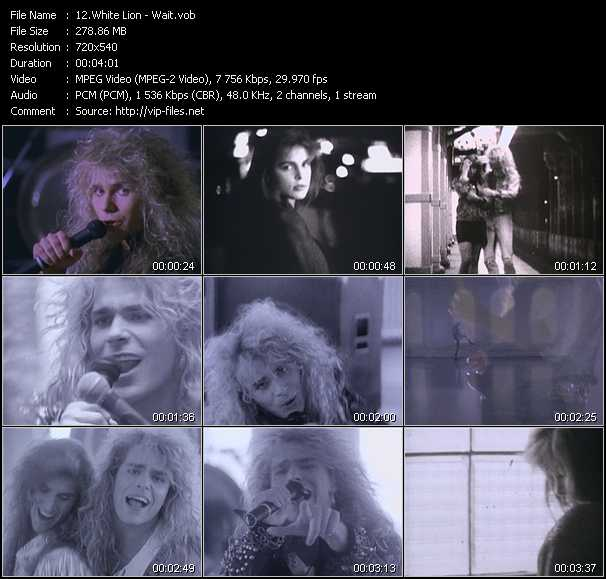 Screenshot of Music Video White Lion - Wait