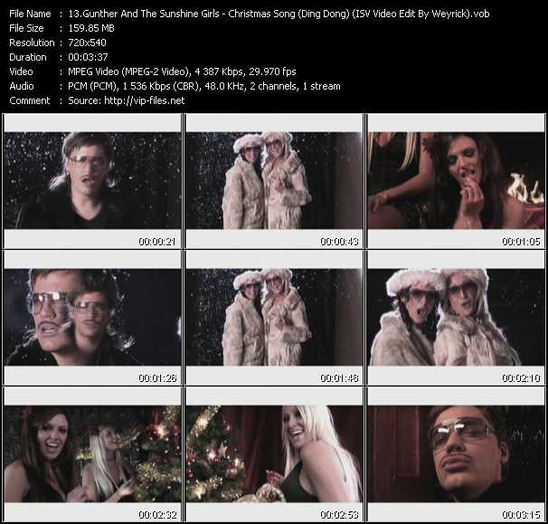 Gunther And The Sunshine Girls - Christmas Song (Ding Dong) (ISV Video Edit By Weyrick ...