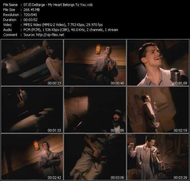 Screenshot of Music Video El DeBarge - My Heart Belongs To You