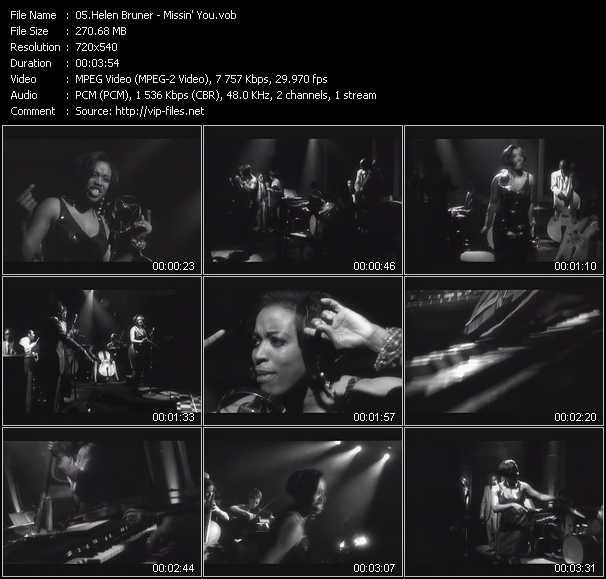 Screenshot of Music Video Helen Bruner - Missin' You