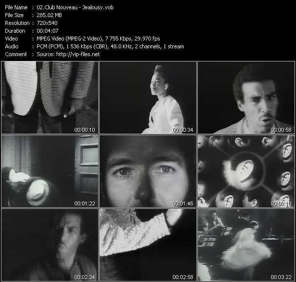 Screenshot of Music Video Club Nouveau - Jealousy