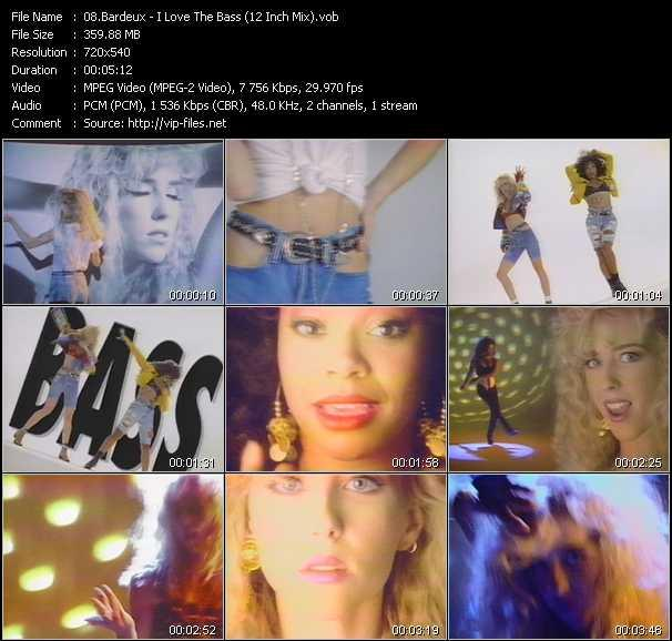 Screenshot of Music Video Bardeux - I Love The Bass (12 Inch Mix)