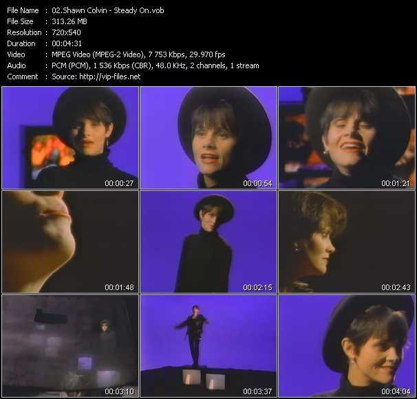 Screenshot of Music Video Shawn Colvin - Steady On