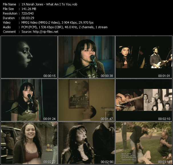 Norah Jones music video clip What Am I To You