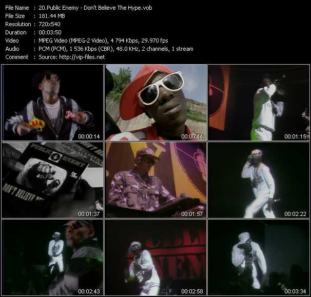 Screenshot of Music Video Public Enemy - Don't Believe The Hype