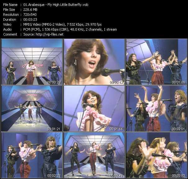 Screenshot of Music Video Arabesque - Fly High Little Butterfly