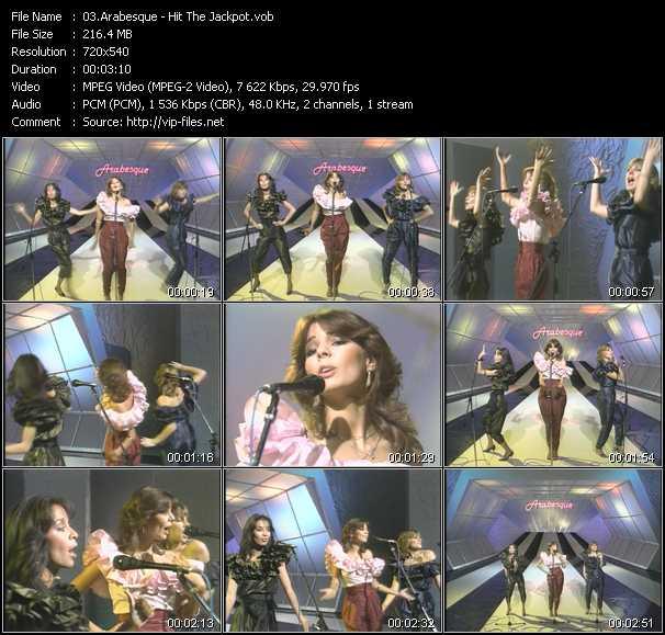 Screenshot of Music Video Arabesque - Hit The Jackpot