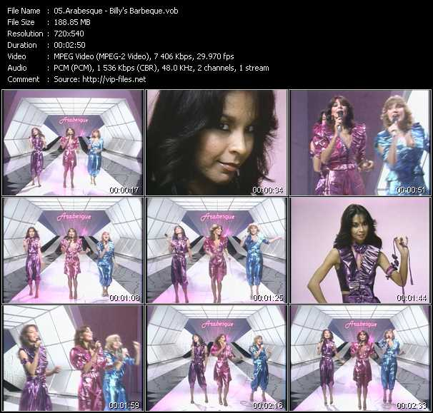 Screenshot of Music Video Arabesque - Billy's Barbeque