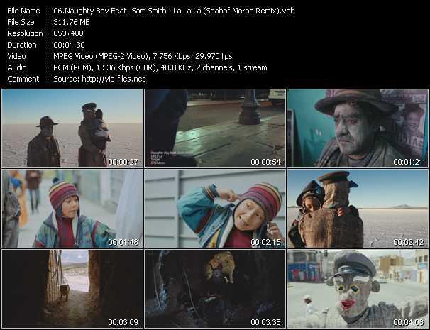 Screenshot of Music Video Naughty Boy Feat. Sam Smith - La La La (Shahaf Moran Remix)