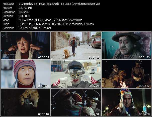 Screenshot of Music Video Naughty Boy Feat. Sam Smith - La La La (DEVolution Remix)
