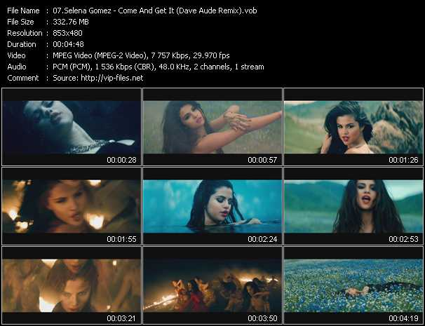 Selena Gomez video vob