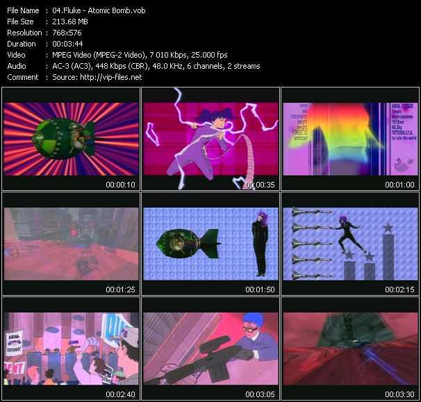 Screenshot of Music Video Fluke - Atomic Bomb