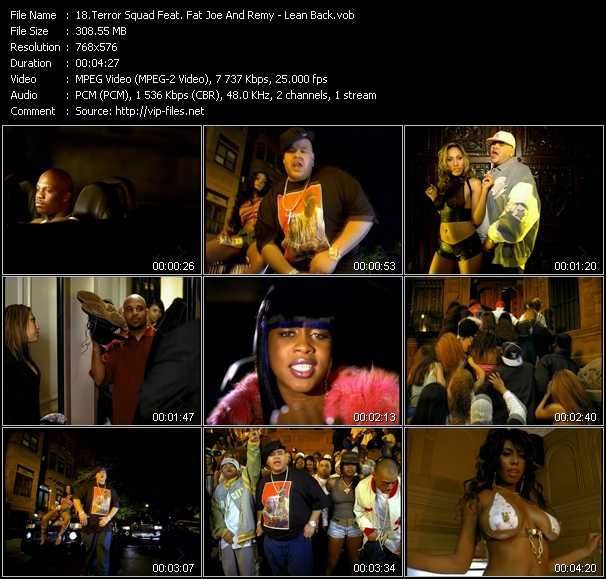 Terror Squad Feat. Fat Joe And Remy music video clip Lean Back
