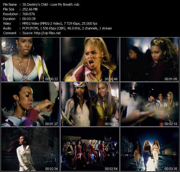 Destiny's Child video vob