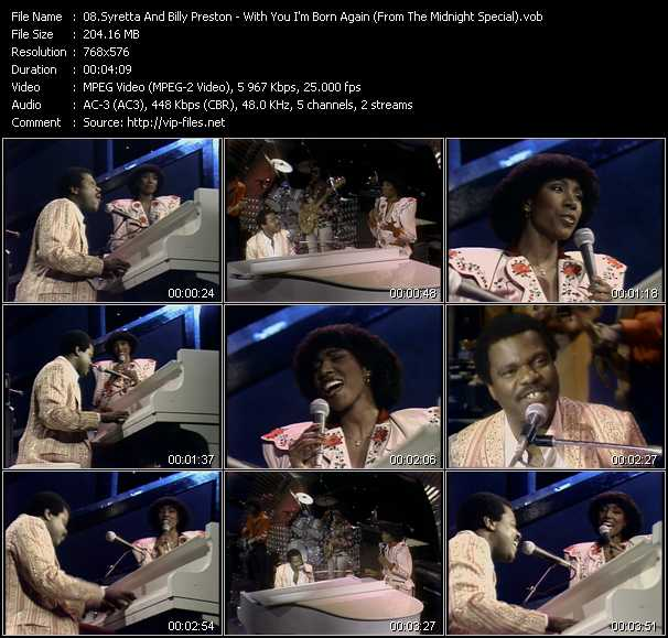 Screenshot of Music Video Billy Preston And Syreeta - With You I'm Born Again (From The Midnight Special)