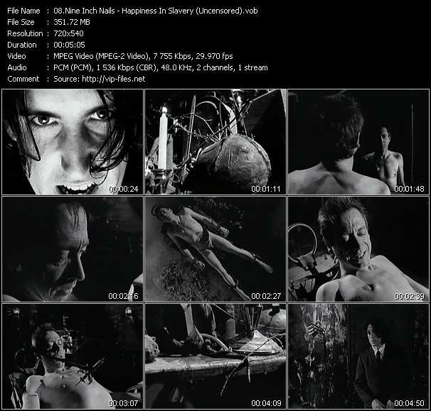 Nine Inch Nails video vob