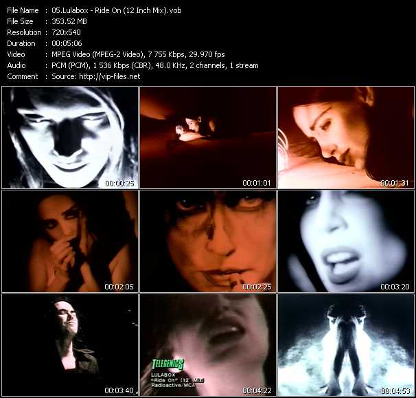 Screenshot of Music Video Lulabox - Ride On (12 Inch Mix)