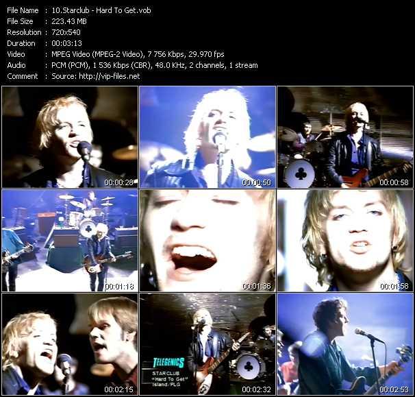 Screenshot of Music Video Starclub - Hard To Get