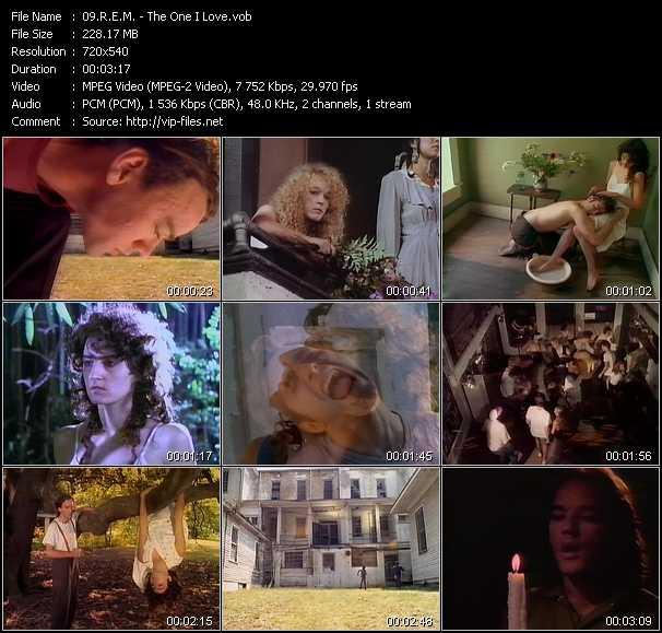 R.E.M. video vob