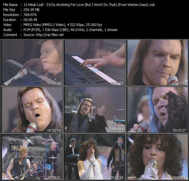 Meat Loaf  Id Do Anything For Love But I Wont Do That
