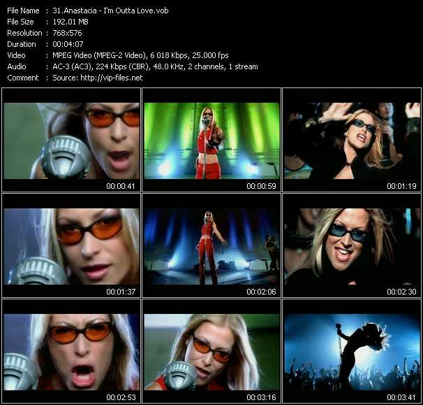 Screenshot of Music Video Anastacia - I'm Outta Love