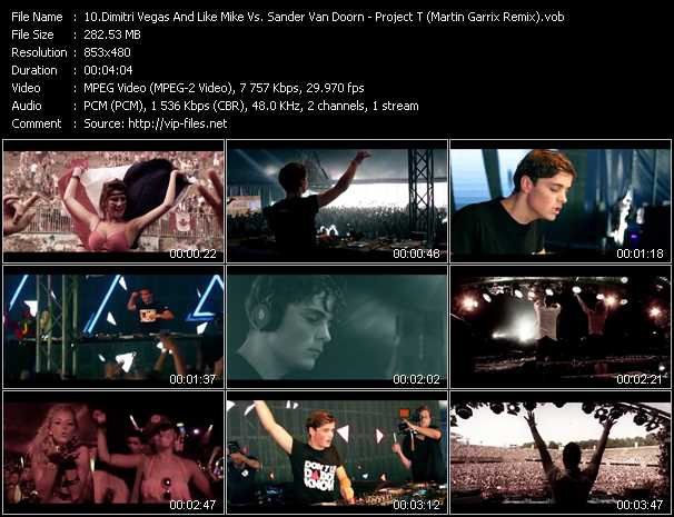 Screenshot of Music Video Dimitri Vegas And Like Mike Vs. Sander Van Doorn - Project T (Martin Garrix Remix)