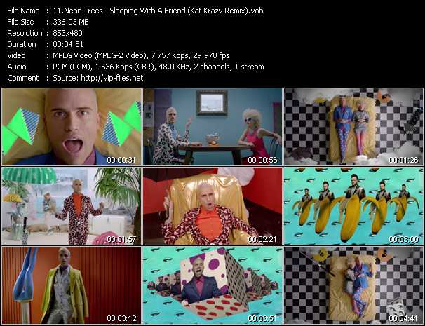 Screenshot of Music Video Neon Trees - Sleeping With A Friend (Kat Krazy Remix)