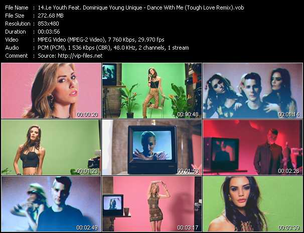 Screenshot of Music Video Le Youth Feat. Dominique Young Unique - Dance With Me (Tough Love Remix)