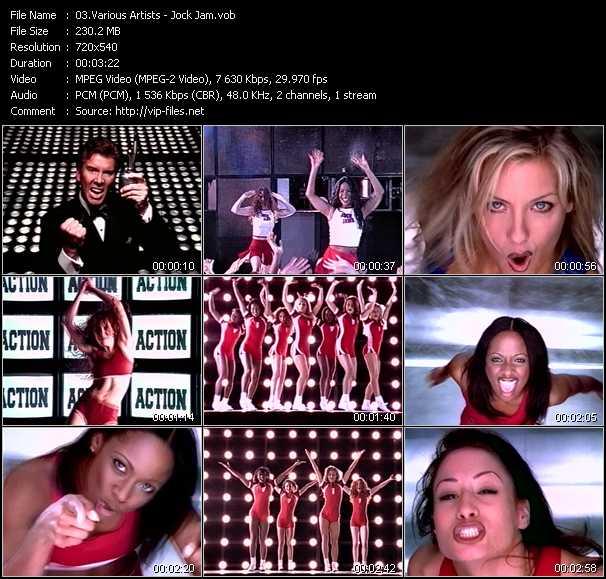 Screenshot of Music Video Various Artists - Jock Jam