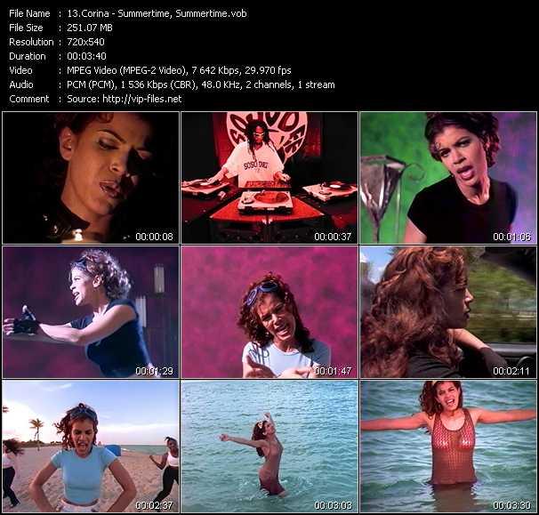 Screenshot of Music Video Corina - Summertime, Summertime