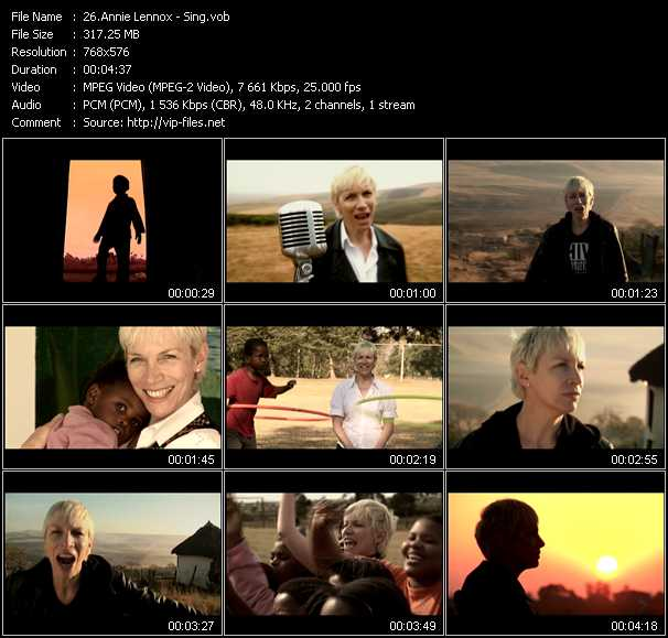 Annie Lennox video vob