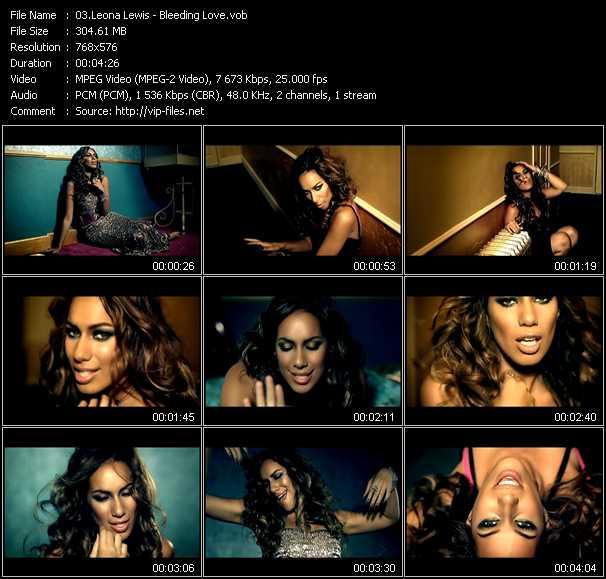 Leona Lewis video vob