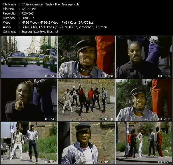Screenshot of Music Video Grandmaster Flash - The Message