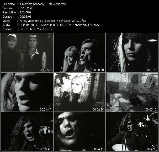 Screenshot of Music Video Dream Academy - This World