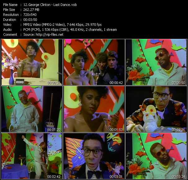 Screenshot of Music Video George Clinton - Last Dance