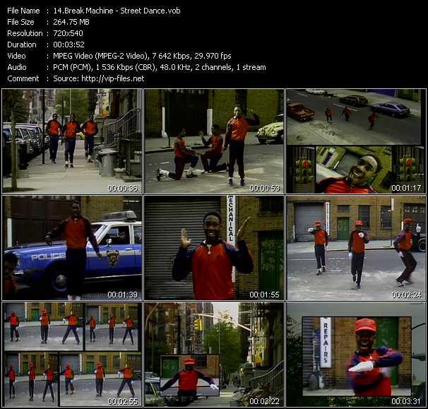 Screenshot of Music Video Break Machine - Street Dance