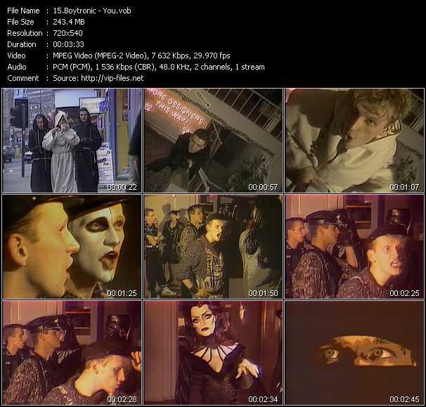 Screenshot of Music Video Boytronic - You