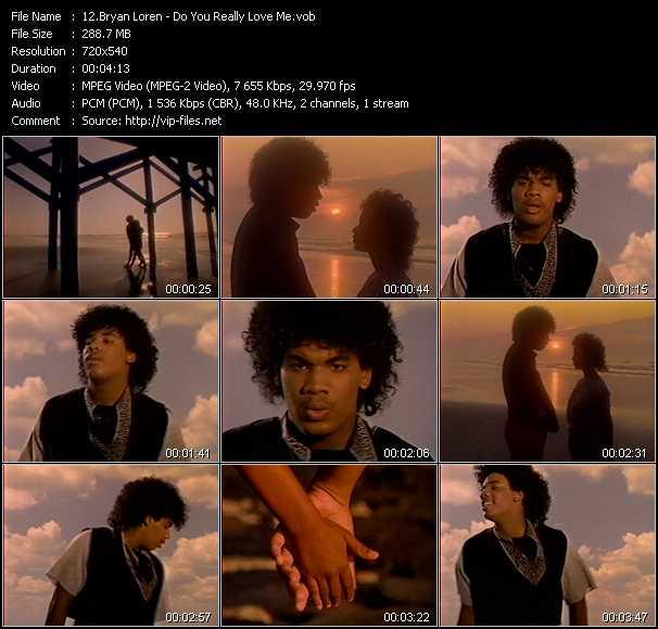 Screenshot of Music Video Bryan Loren - Do You Really Love Me