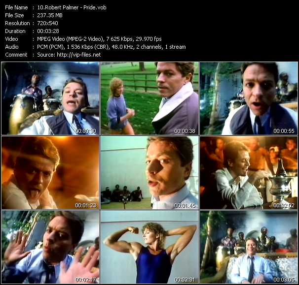 Robert Palmer video vob