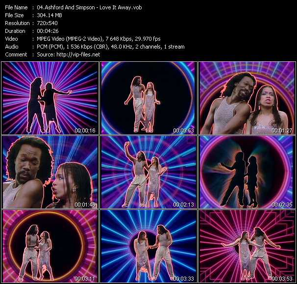 Screenshot of Music Video Ashford And Simpson - Love It Away