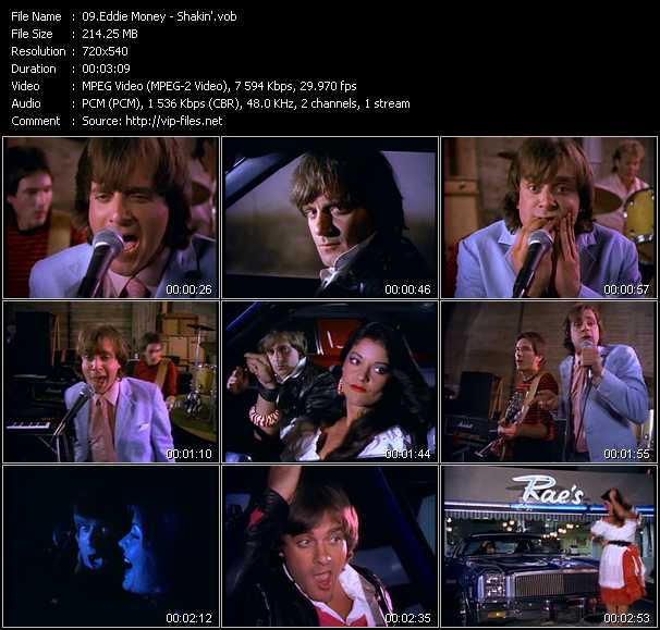 Screenshot of Music Video Eddie Money - Shakin'