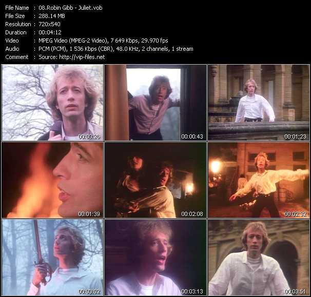Screenshot of Music Video Robin Gibb - Juliet