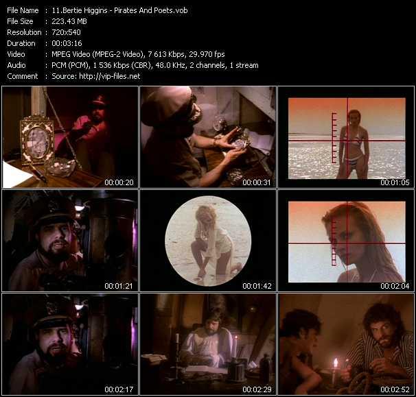 Screenshot of Music Video Bertie Higgins - Pirates And Poets