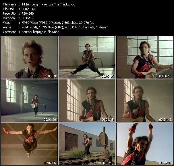 Screenshot of Music Video Nils Lofgrin - Across The Tracks
