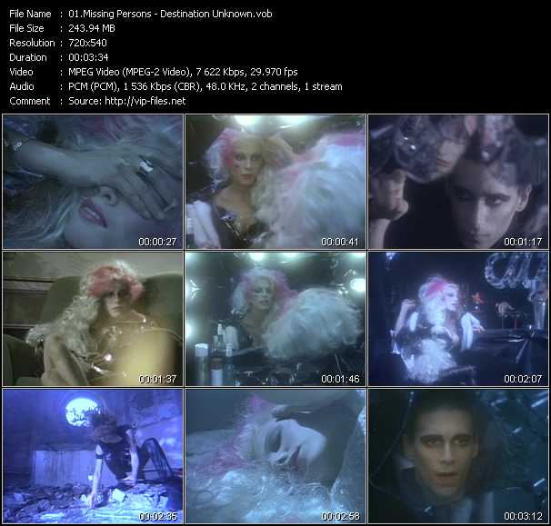 Missing Persons video vob