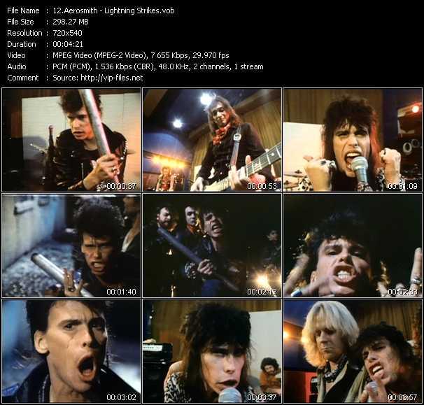 Screenshot of Music Video Aerosmith - Lightning Strikes