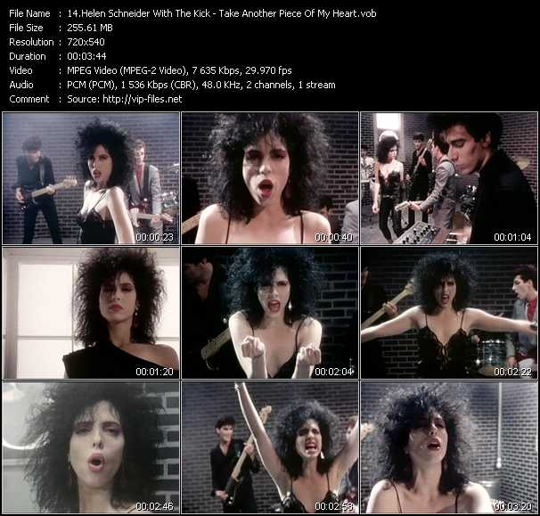 Screenshot of Music Video Helen Schneider With The Kick - Take Another Piece Of My Heart