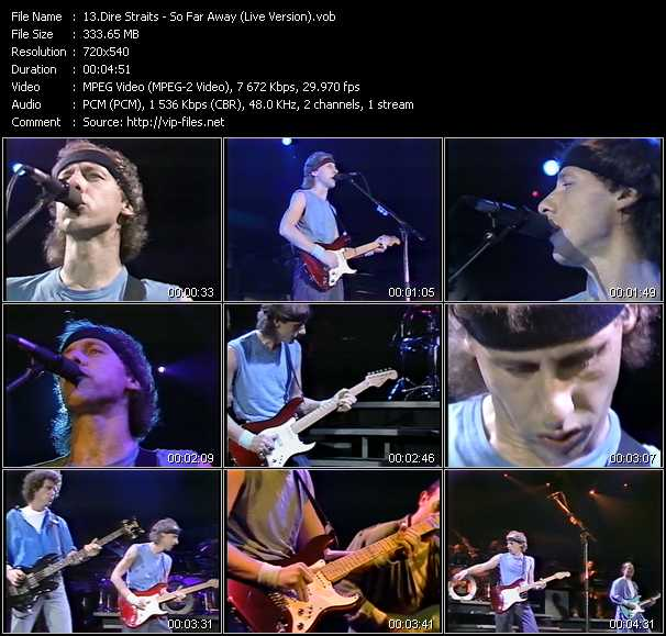 Screenshot of Music Video Dire Straits - So Far Away (Live Version)