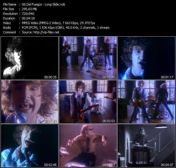 Screenshot of Music Video Del Fuegos - Long Slide