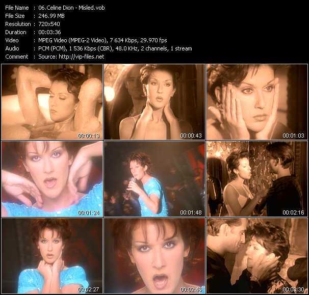 Celine Dion video vob
